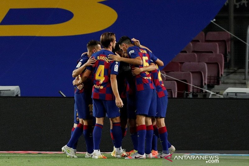 Barcelona pastikan Espanyol terdegradasi usai menangi Derbi Catalunya