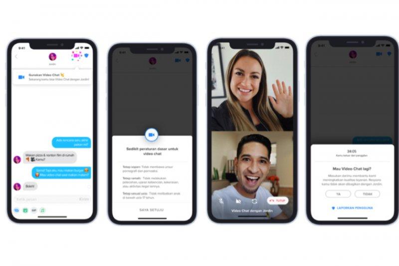 """Tinder mulai lakukan uji coba fitur """"video chat"""" tatap muka di Indonesia"""
