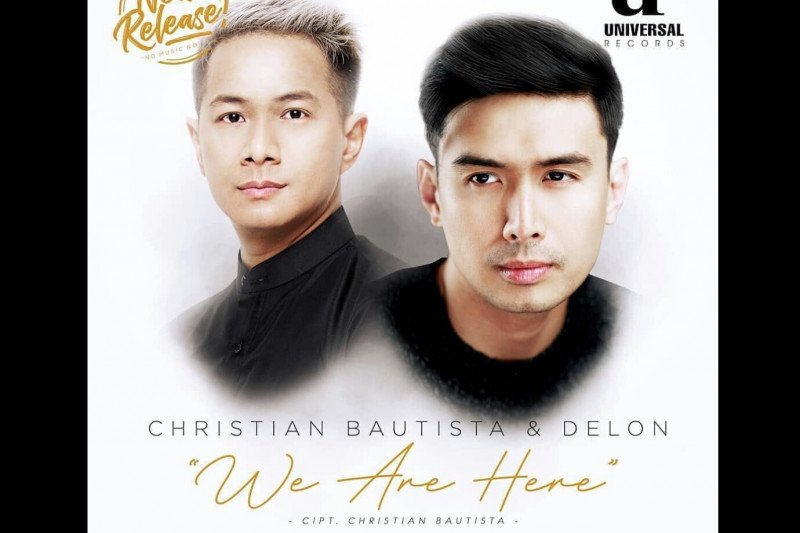 "Delon berkolaborasi dengan Christian Bautista di lagu ""We Are Here"""
