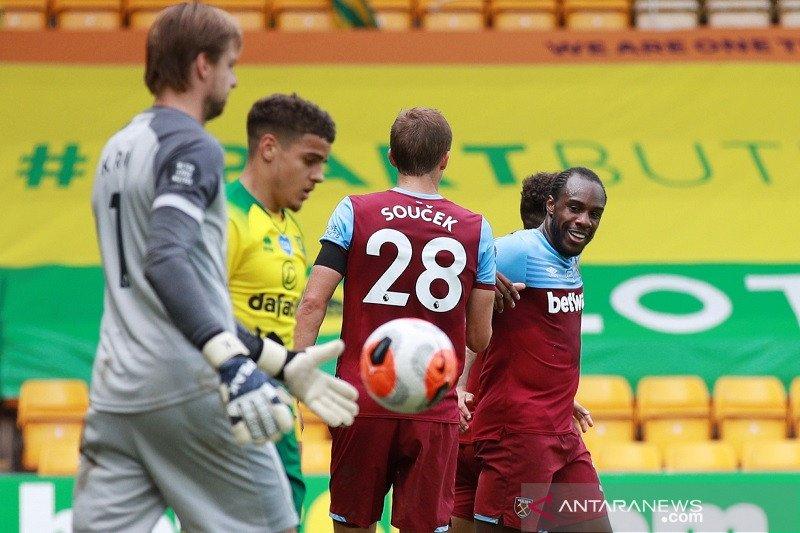 West Ham buat Norwich terdegradasi dari Liga Premier Inggris