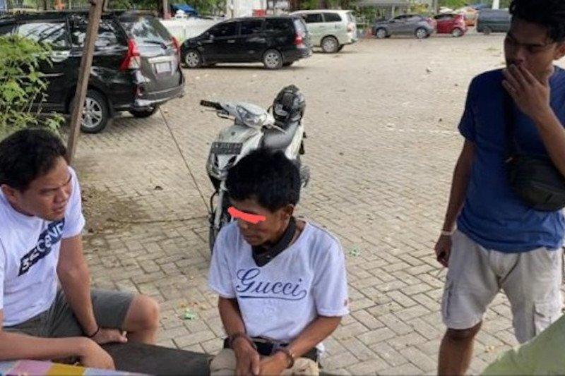 Ketahuan curi motor gara-gara kunci T terjatuh, seorang residivis  dibekuk di Pasar Raya