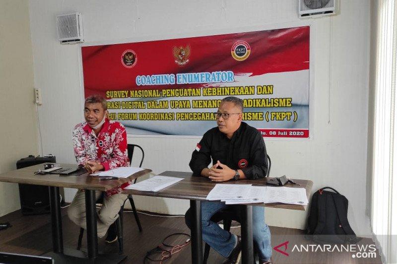 FKPT  bantu BNPT survei kebhinekaan cegah radikalisme di Sulteng