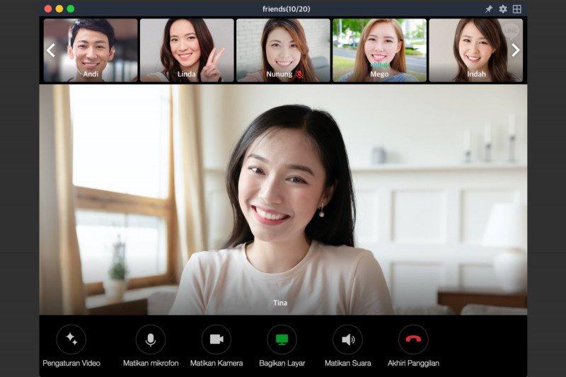 LINE umumkan  tambah kapasitas panggilan video 500 orang