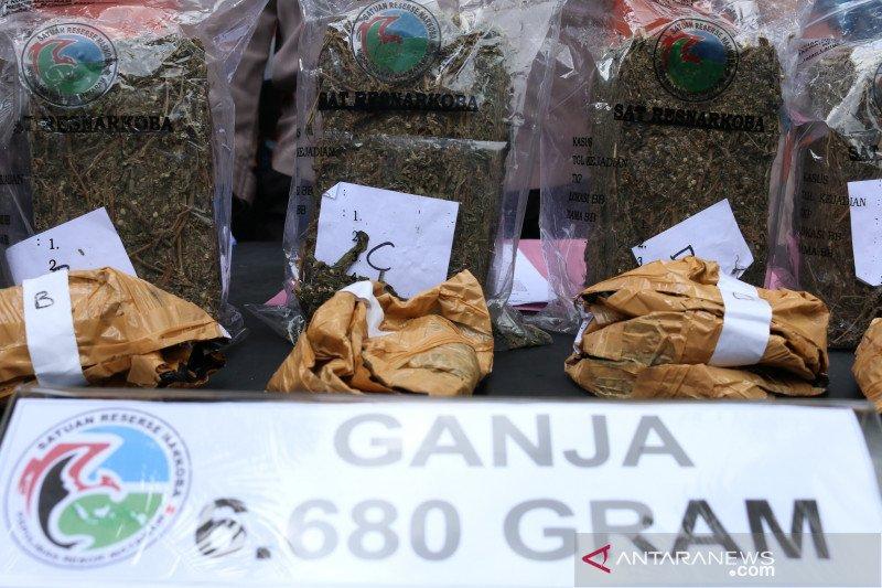 Polisi sita 6,68 kilogram ganja jaringan lapas