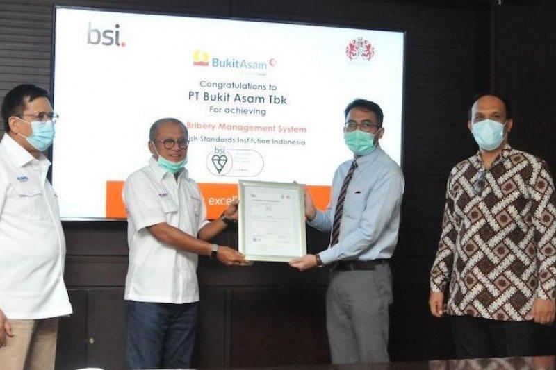 PTBA raih sertifikat ISO manajemen  anti penyuapan