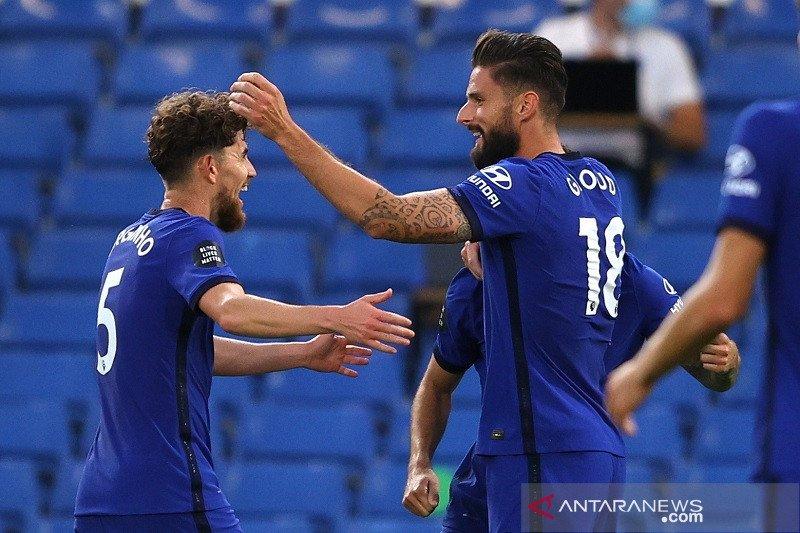 Gol tunggal Giroud amankan posisi Chelsea di tiga besar