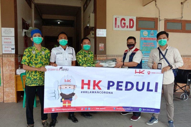 PT Hutama karya Ruas Terbanggi Besar-Pematang Panggang-Kayuagung beri bantuan APD RS dan puskemas