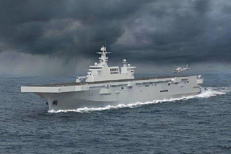 Kapal serbu amfibi AL China meluncur saat Taiwan latihan militer tahunan
