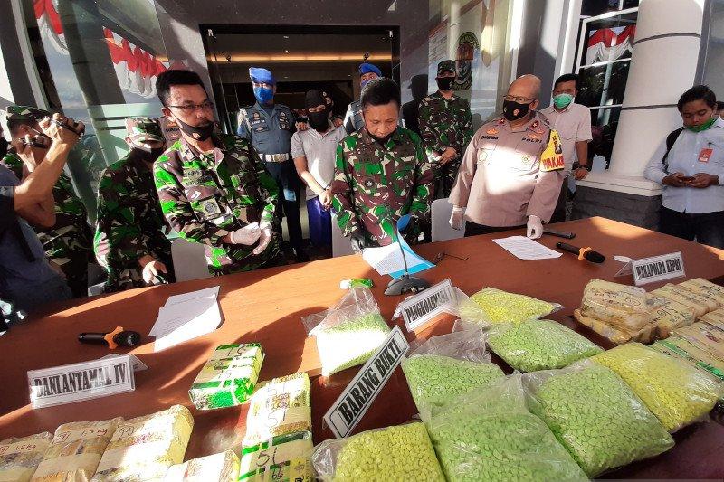 Koarmada I menggagalkan penyelundupan 38,4 kg sabu-sabu dari Malaysia