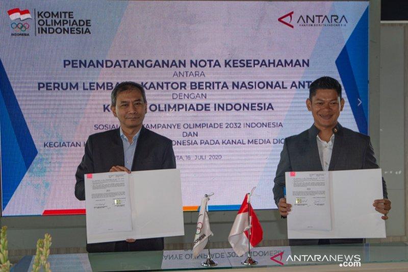KOI dan ANTARA kerja sama mendukung Indonesia tuan rumah Olimpiade 2032
