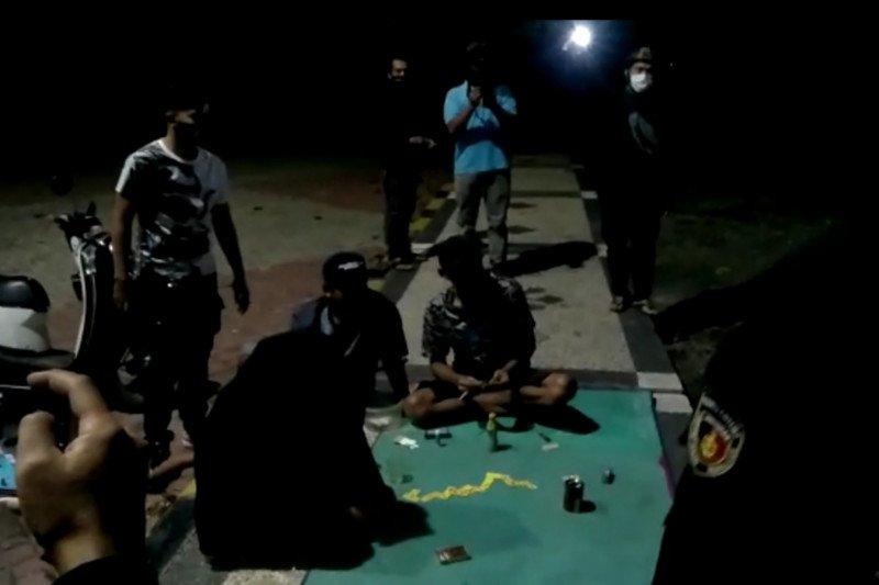 Ini yang ditemukan Tim Puma Polres Lombok Tengah saat razia malam (video)