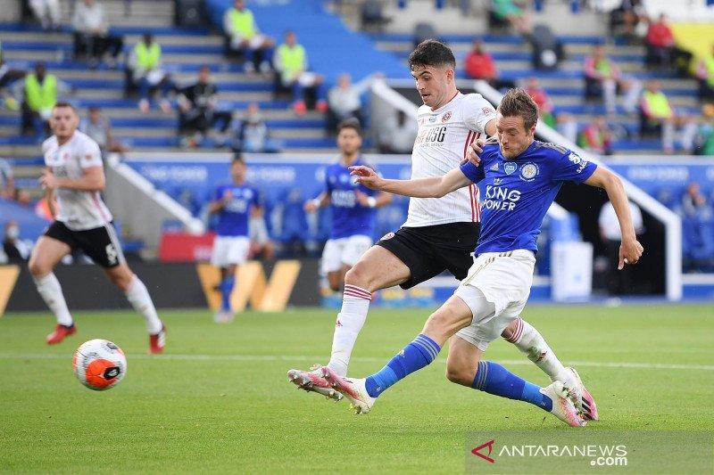 Atasi Sheffield United, Leicester kian mantap di empat besar