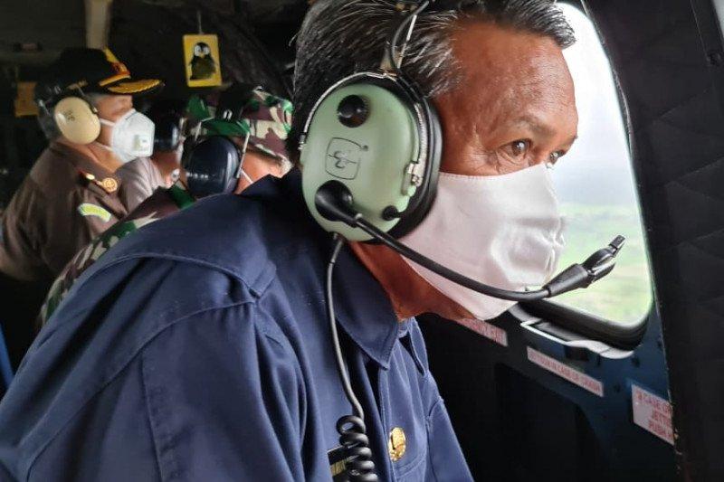 Kepala BNPB Doni Monardo tinjau kondisi Luwu Utara lewat udara