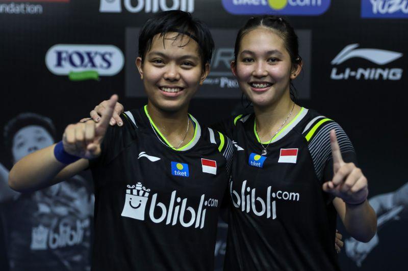 Ribka/Fadia juara ganda putri turnamen bulu tangkis internal PBSI