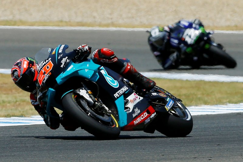 Fabio Quartararo raih kemenangan perdana di MotoGP setelah taklukan Jerez