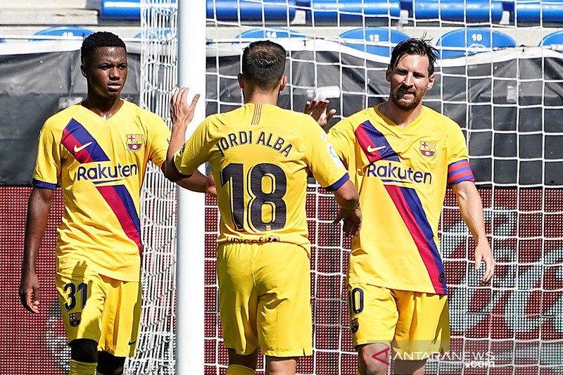Barcelona pesta lima gol ke gawang Alaves menutup musim