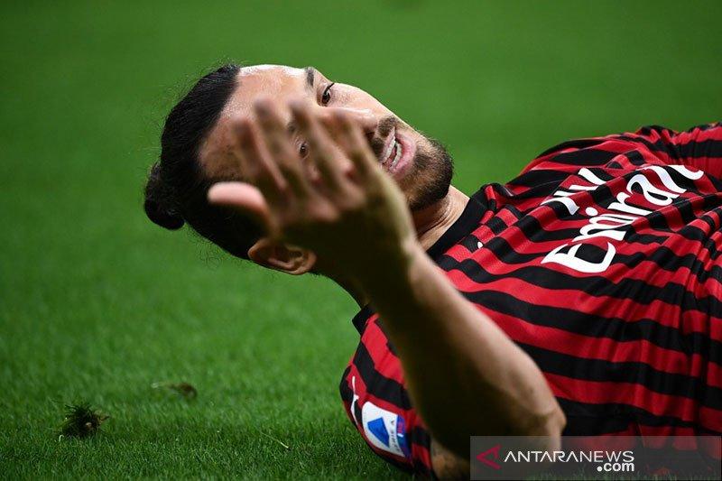 Dua gol Ibrahimovic antar AC Milan ke Liga Europa