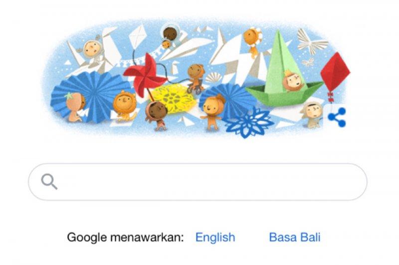 Rayakan Hari Anak Nasional, Google Doodle hadirkan permainan tradisional