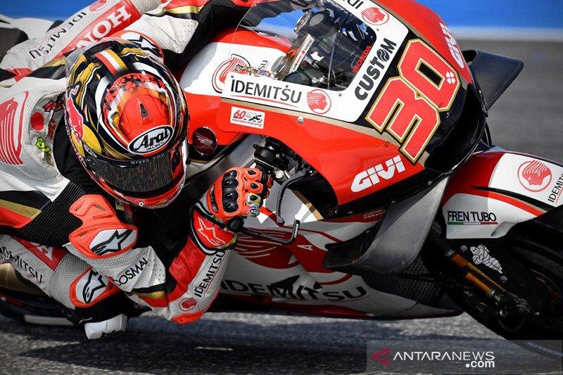 Nakagami melesat di puncak pada FP2 MotoGP Teruel