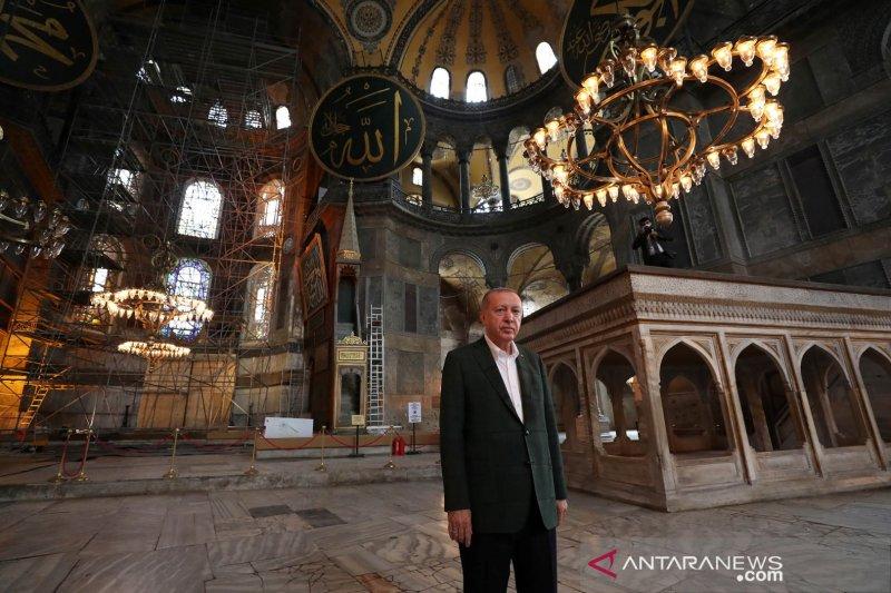 Seusai Hagia Sophia, Erdogan ubah gereja Chora Turki jadi masjid