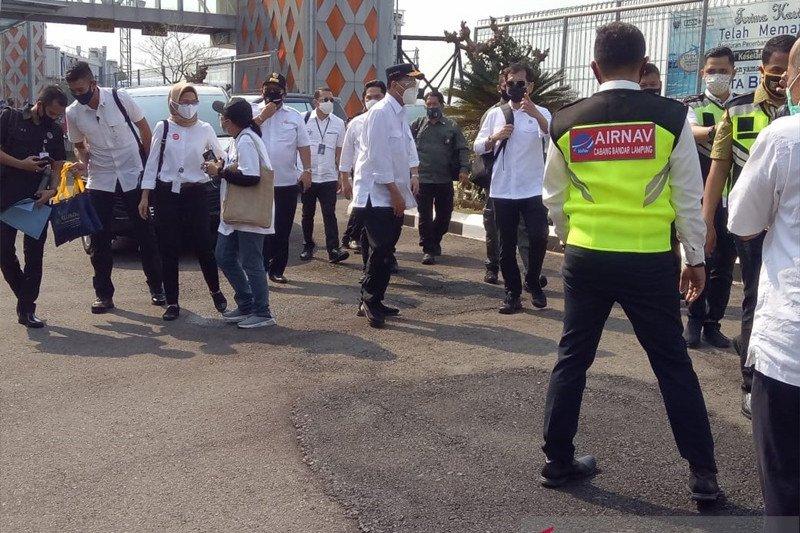 Menhub kunjungi Bandara Radin Inten Lampung