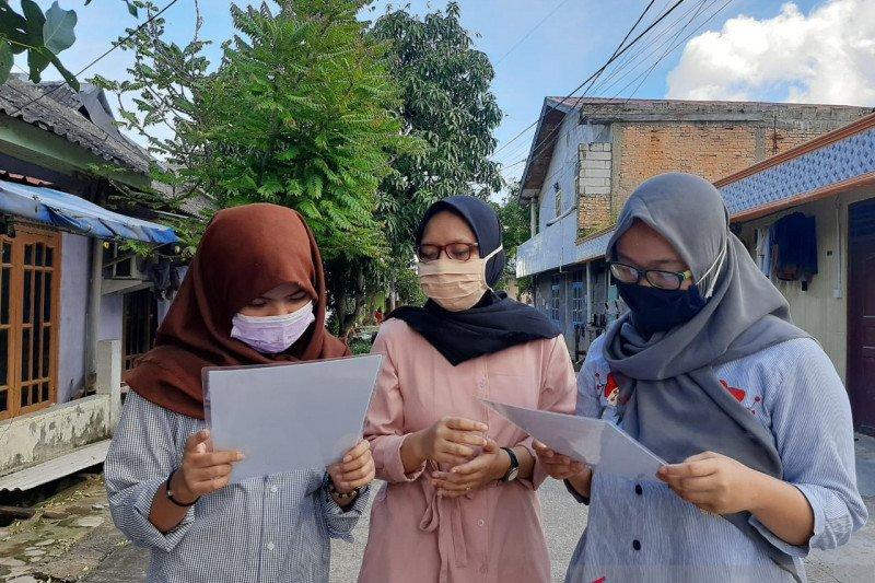 Mahasiswa KKN UNDIP ajak warga Batam gunakan masker dengan benar