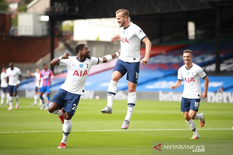 Tottenham kunci tiket Liga Europa meski diimbangi Crystal Palace