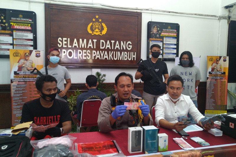 Polres Payakumbuh ringkus dua orang  pengedar uang palsu