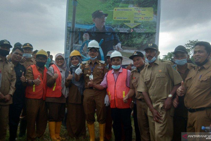 10 kilometer jaringan irigasi di Lunang Pessel direhabilitasi