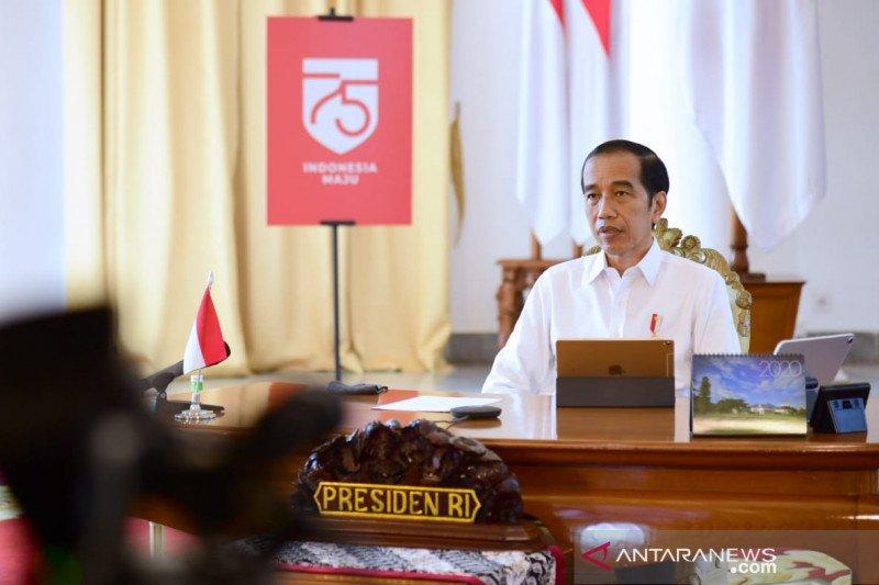 Jokowi tegur kementerian/lembaga belum kerja seperti di zona krisis