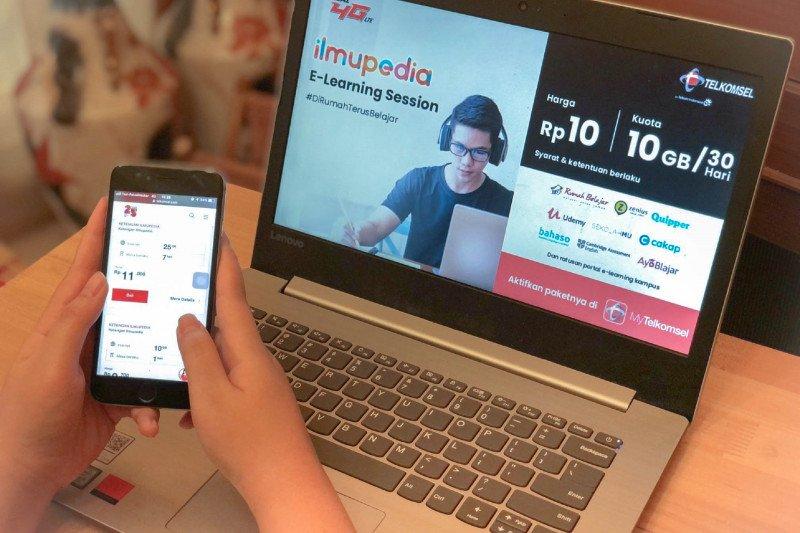 Dukung belajar online,Telkomsel hadirkan paket Ilmupedia E-learning