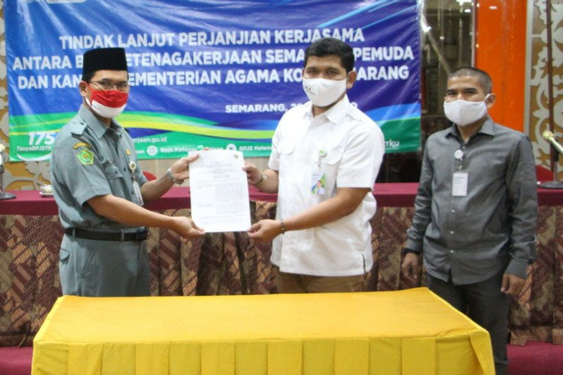 BPJAMSOSTEK Semarang Pemuda lindungi pekerja lembaga peribadatan