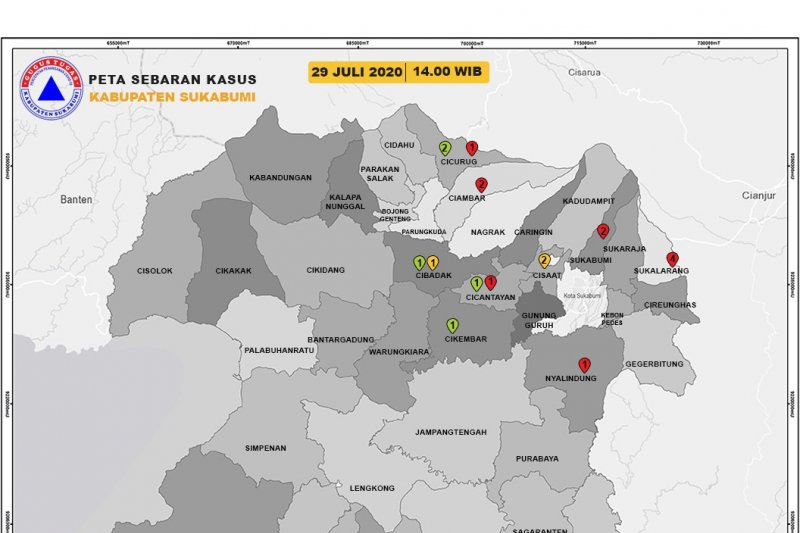 Pasien corona di Kabupaten Sukabumi bertambah tiga orang