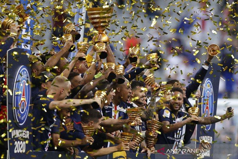 PSG juara Piala Liga Prancis usai menang adu penalti atas Lyon