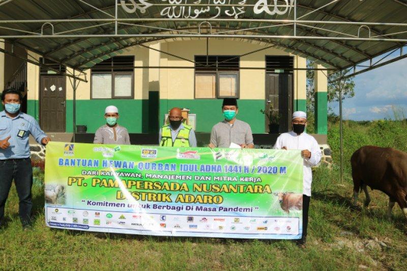 PT Pamapersada Nusantara donates 84 sacrificial animals