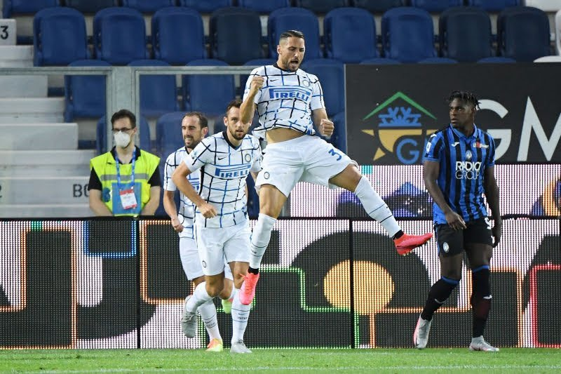Inter peringkat kedua klasemen setelah tekuk Atalanta 2-0