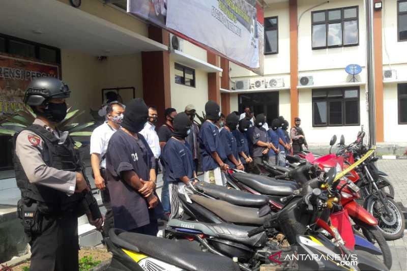 10 anggota sindikat pencurian sepeda motor diringkus di Temanggung