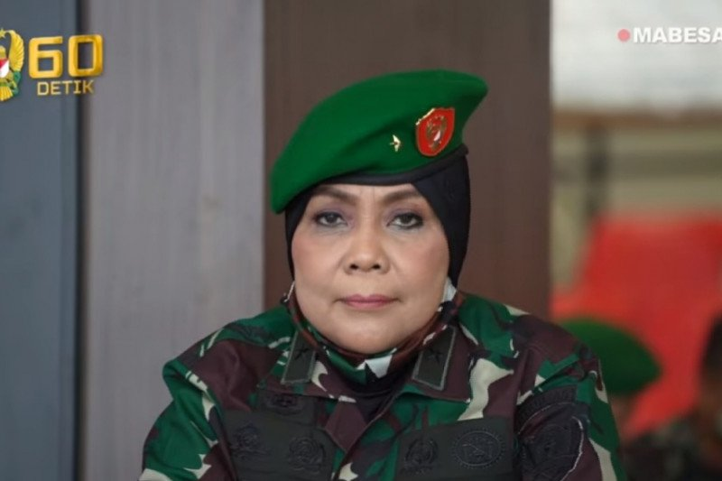 Direktur Hukum AD, perwira wanita naik pangkat menjadi brigjen