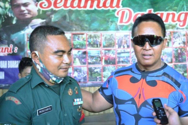 Kasad kunjungi kediaman Serda Mugiyanto, sosok inspiratif dalam keterbatasan