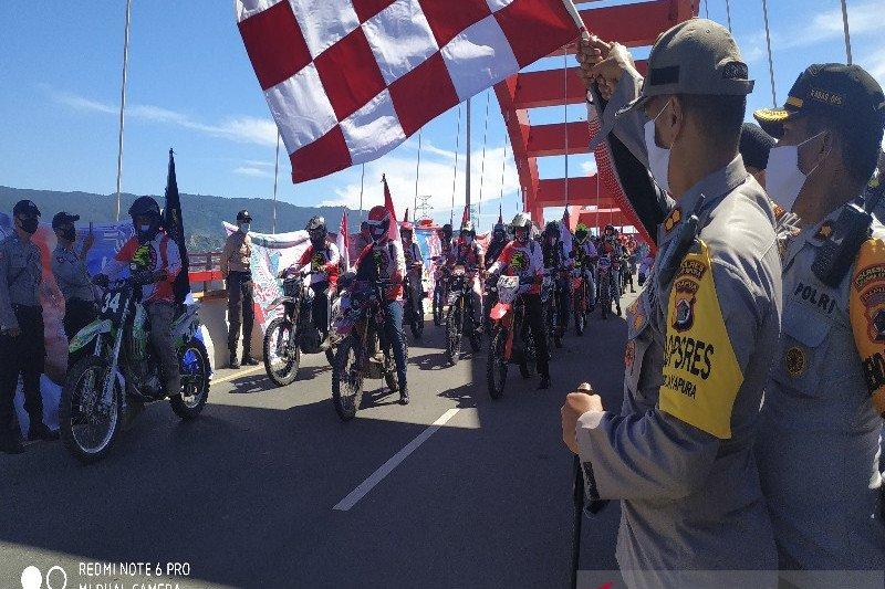 200 pengendara ikuti 'Adventure Merah Putih' sepanjang 340 KM