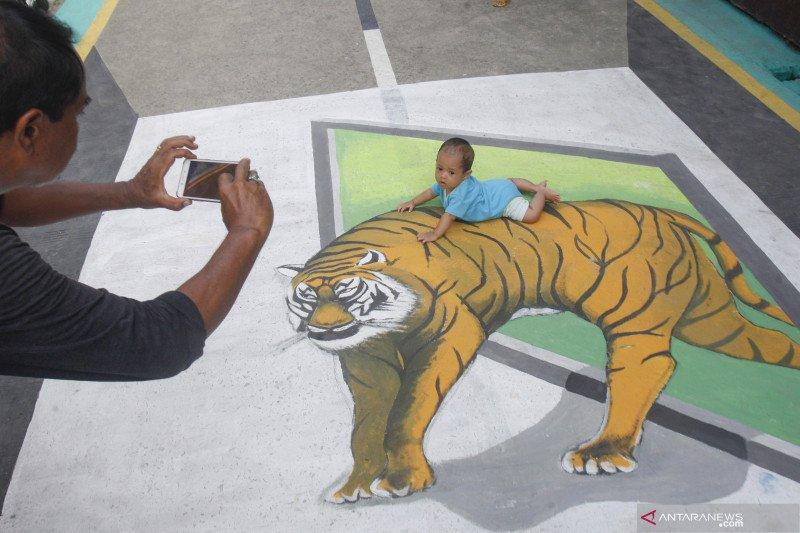 Lukisan Tiga Dimensi di Jalan