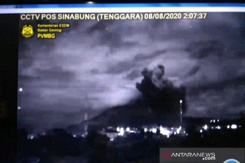 Empat kecamatan di Kabupaten Karo terdampak abu vulkanik Gunung Sinabung