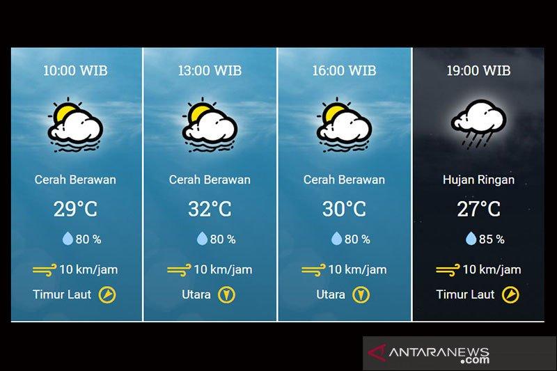Sebagian wilayah Jakarta berpotensi hujan disertai petir sore dan malam nanti