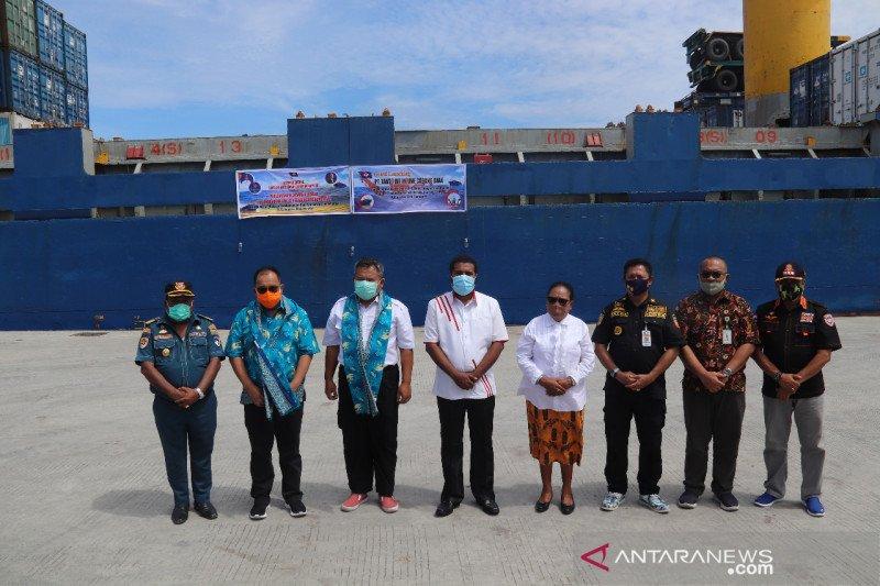 PT Pelindo IV Biak layani pelayaran perdana Tanto Intim Line