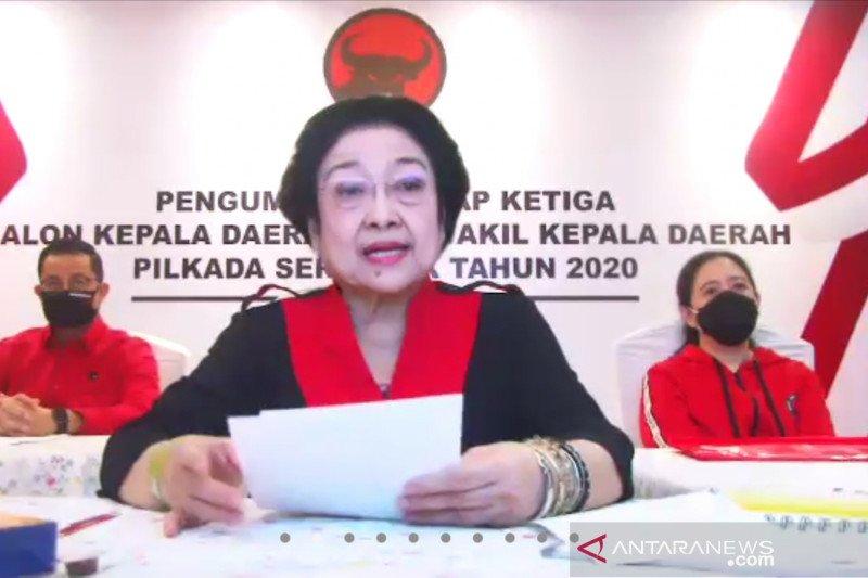 Megawati ingatkan para calon kepala daerah tidak lecehkan rekomendasi PDIP