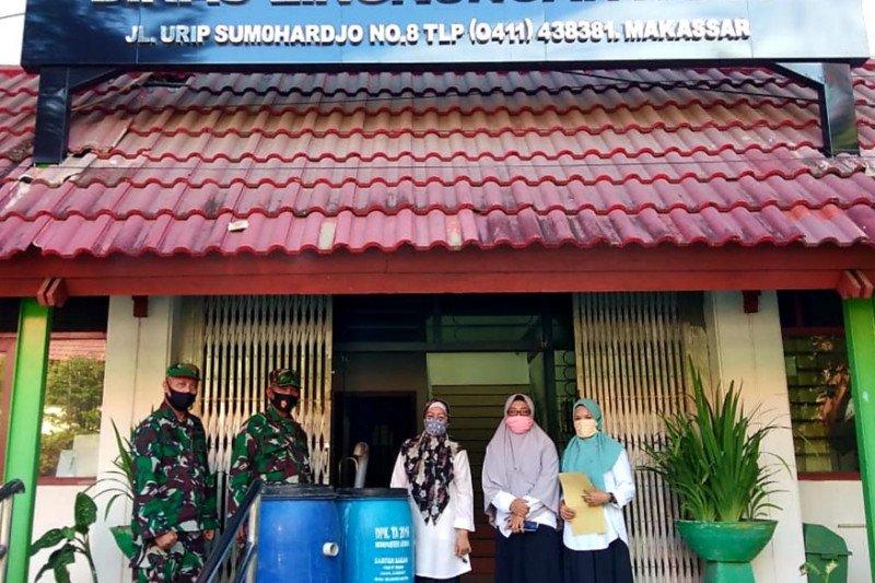 SKP Lantamal VI bersama DLH Kota Makassar olah sampah jadi pupuk