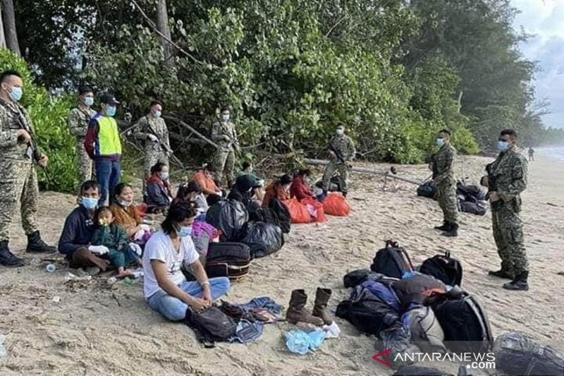 Infanteri Malaysia  tangkap WNI pendatang ilegal