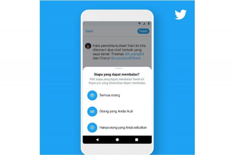 Kini Twitter dapat mengatur siapa saja yang bisa balas cuitan pengguna
