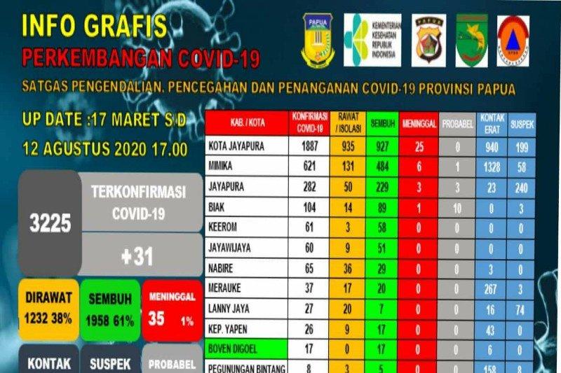 Kabar baik, 1.958 pasien positif COVID-19 di Papua telah sembuh