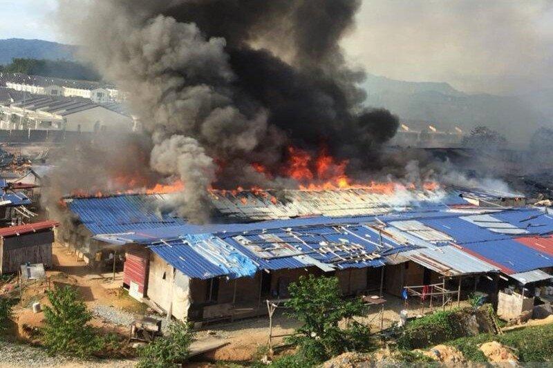 Rumah kongsi TKI di Negeri Sembilan terbakar